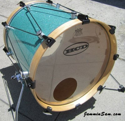 Photo of Matt Smith's tom with Turquoise Glass Glitter drum wrap (13)
