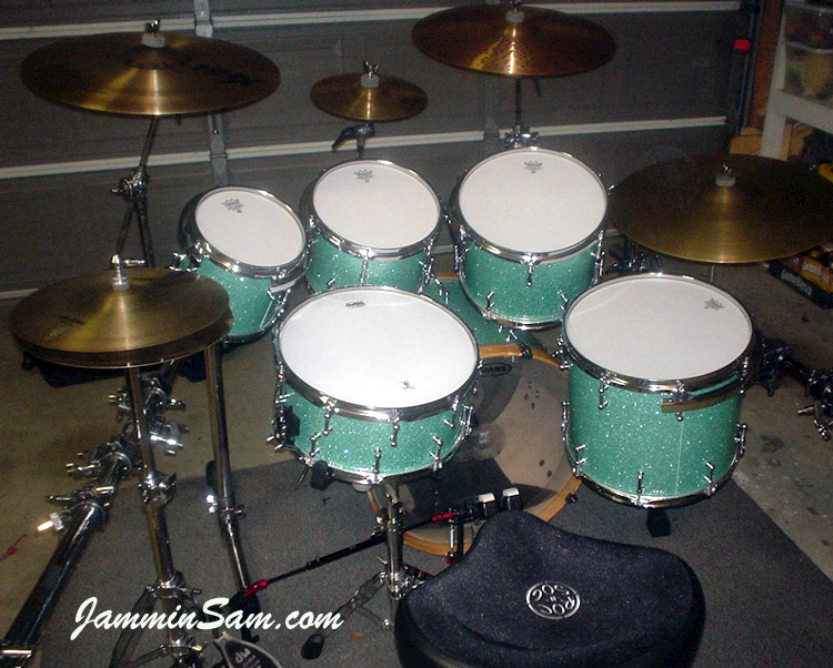 turquoise glass glitter on drums page 2 jammin sam. Black Bedroom Furniture Sets. Home Design Ideas