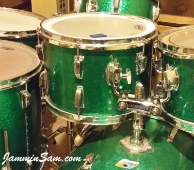 Photo of Jon Glenn's Ludwig tom-tom and more with JS Sparkle Green drum wrap (47)