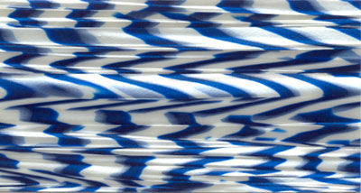 Drum Wrap Material: Example scan of Blue White Onyx Pearl