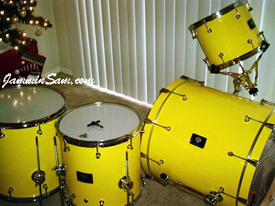 Photo of Brian Cocivera's project with Hi Gloss Crazy Yellow drum wrap